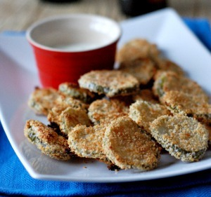 Copycat Oven Fried Pickles
