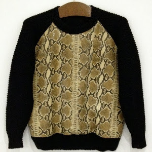Pretty Python Designer Sweater
