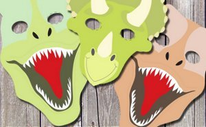 picture relating to Dinosaur Mask Printable called Absolutely free Printable Dinosaur Masks