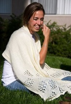 Lace Check Shawl Pattern