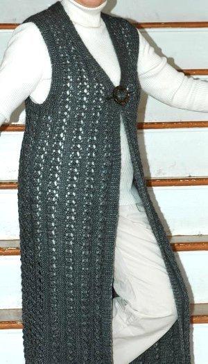 Spring Elegance Lace Vest AllFreeKnitting.com