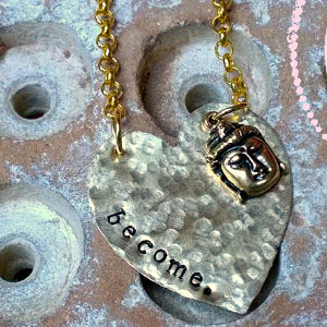DIY Hammered Metal Stamp Necklace