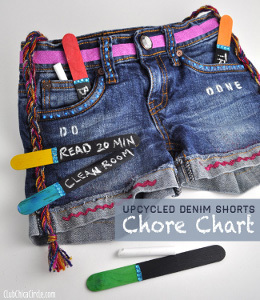 Denim Shorts Chore Chart