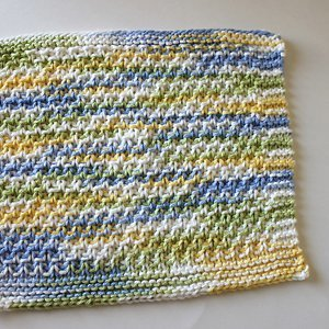 Moss Stitch Dishcloth