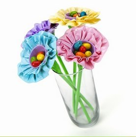 Easter Egg Duck Tape Flowers