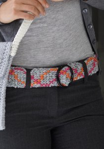 Tunisian Crochet Belt
