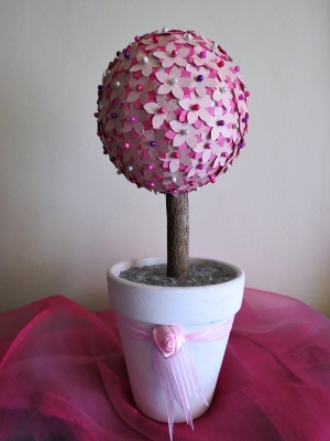 Pretty Pink Petal Topiary Favecrafts Com