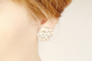 Gem Cluster Earrings