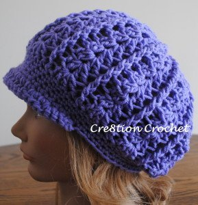 Slouchy Newsboy Crocheted Hat AllFreeCrochet.com