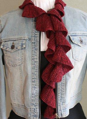Spring Scarf Knitting Pattern : Spring Spiral Scarf AllFreeKnitting.com