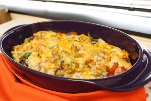 Bubble-Up Hamburger Casserole