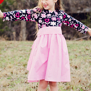3 Hour Pretty in Pink Girl's Dress Patterns