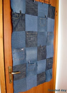 Denim DIY Door Organizer