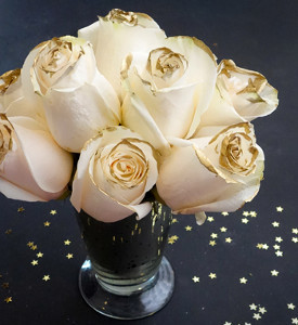 Midas Touch Rose Bouquet