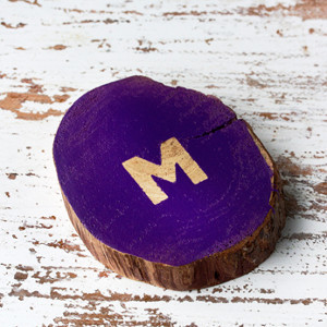 Monogrammed Rustic Wedding Coasters