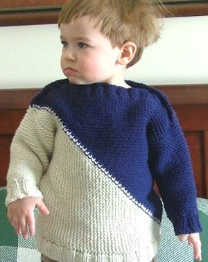 Two Triangles Baby Sweater