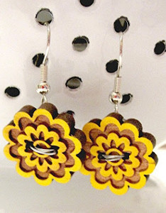 Bright and Sunny Button Earrings