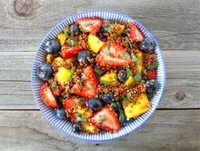 Super Simple Quinoa Fruit Salad