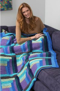 Cool Crochet Log Cabin Afghan