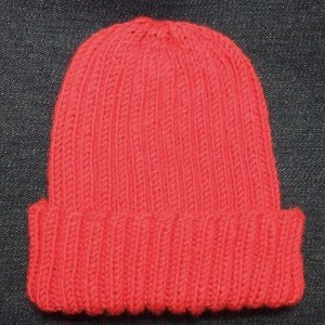 Knitting Pattern Hat Cast On : Basic Ribbed Baby Hat AllFreeKnitting.com