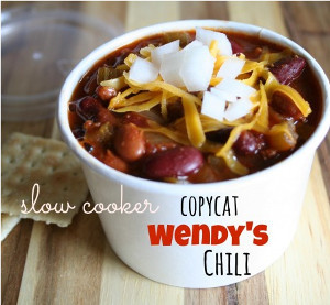 All-Day Slow Cooker Copycat Wendy's Chili