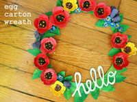 Recycled Egg Carton Wreath