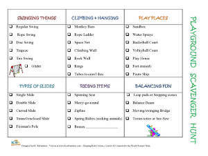 Printable Playground Scavenger Hunt