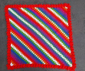 Over the Rainbow Crochet Afghan