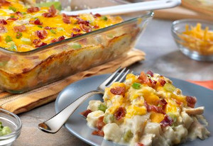 Fully Loaded Chicken and Potato Casserole