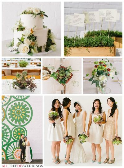 Wedding Color Schemes: Greens
