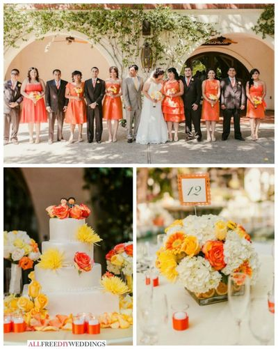 Wedding Color Schemes: Yellow and Orange