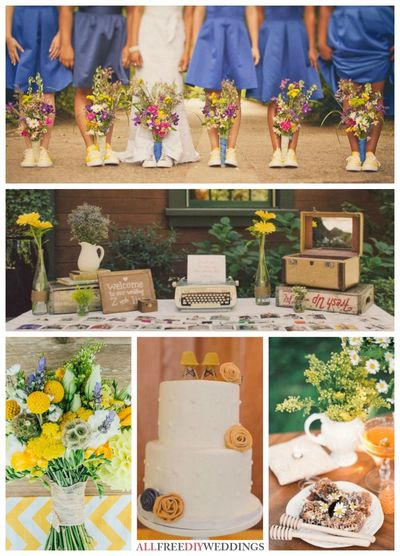 Wedding Color Schemes: Purple and Yellow