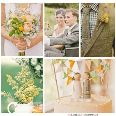 Wedding Color Schemes: Green and Yellow