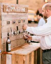 Rustic Wedding Beer Bar