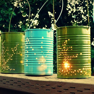 Summer Tin Can Lanterns