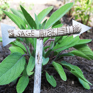 DIY Arrow Garden Markers