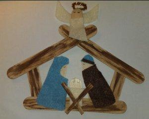 Craft Stick Nativity AllFreeChristmasCrafts