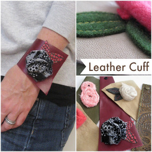 The Girl Is Tough Leather Cuff Bracelet