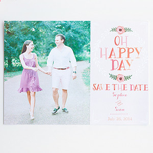 Oh Happy Day Photo Save the Date Free Printable