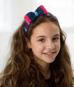Sassy Striped Crochet Headband