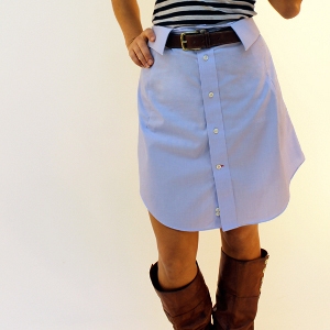 Borrowed from the Boys DIY Skirt Pattern