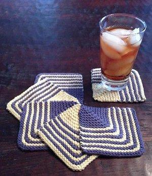 Mod Knit Coasters Allfreeknitting Com