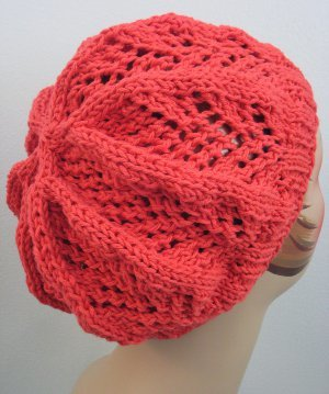 Coral Lace Beanie