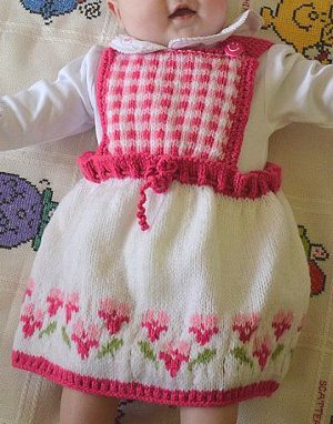 Bed of Roses Baby Dress