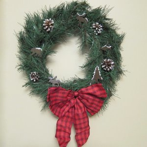 North Woods Homemade Wreath