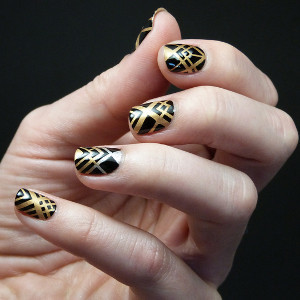 Greaty Gatsby Wedding Nail Design Ideas