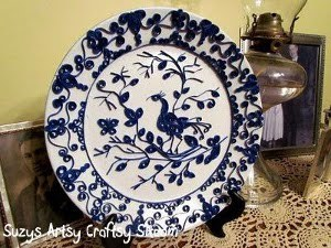 Classy Quilled Blue and White China