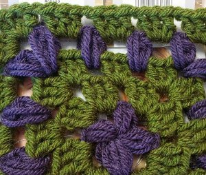 Vineyard Grapes Granny Square