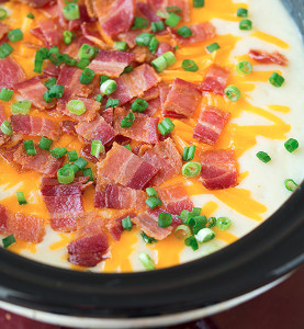 Slow Cooker Loaded Potato Soup for Six