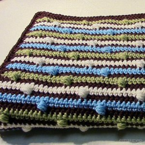 Beautiful Puff Stitch Baby Blanket